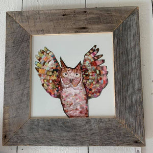 Owl Hooray Framed Art 22x22
