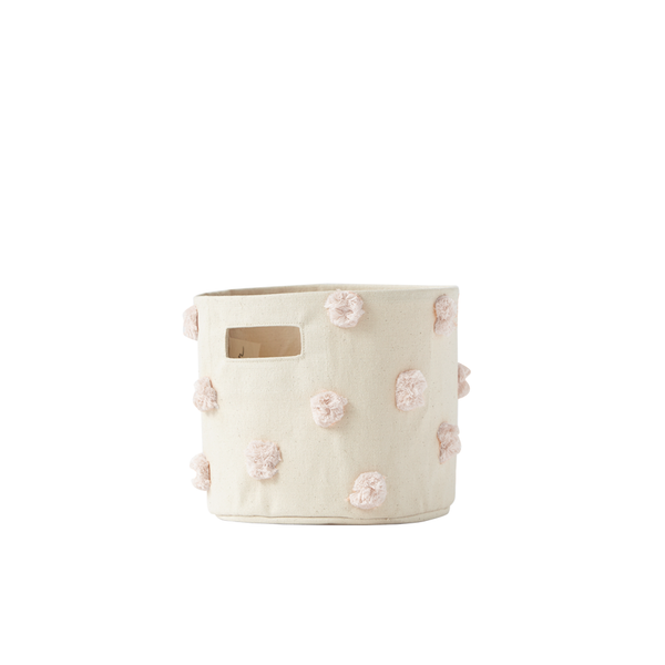 Mini Storage Bin - Pom Pom Blush - oh baby!