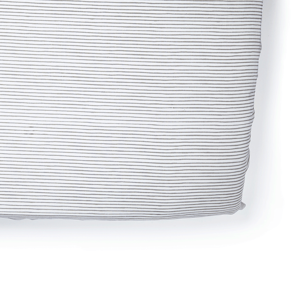 Petit Pehr Pencil Stripe Fitted Crib Sheet - Grey - oh baby!