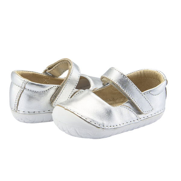 Old Soles Pave Jane Silver Infant Baby Shoes