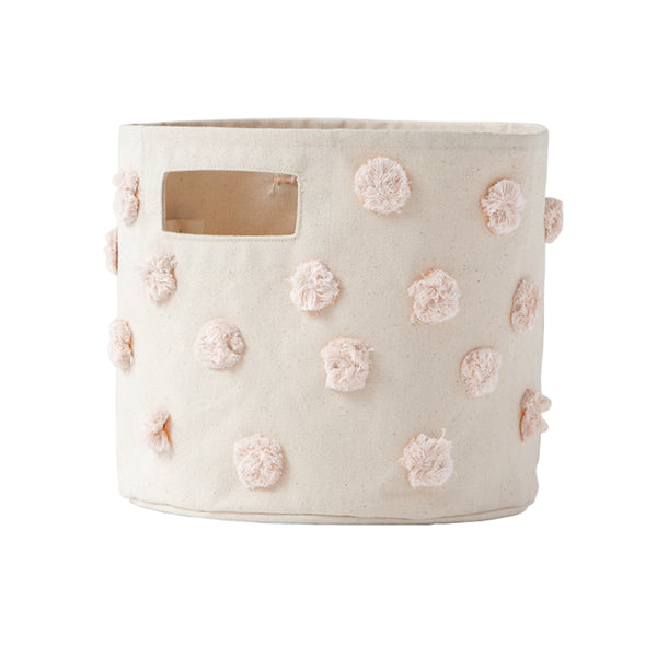 Pehr Pom Pom Pint Canvas Storage Bin - Blush