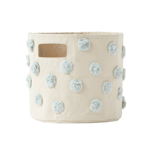 Pehr Pom Pom Pint Canvas Storage Bin - Mist
