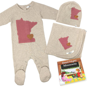 oh baby! Minnesota Love Blush Gift Box Set - Girl