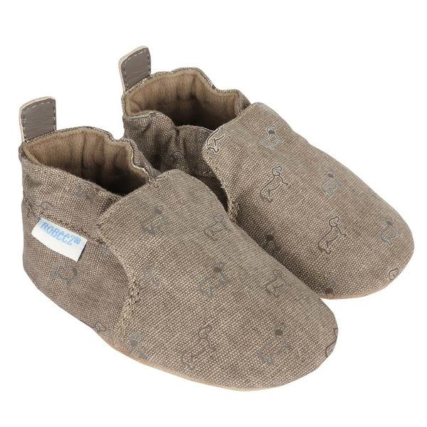 Robeez Puppy Love Infant Baby Shoes - Brown