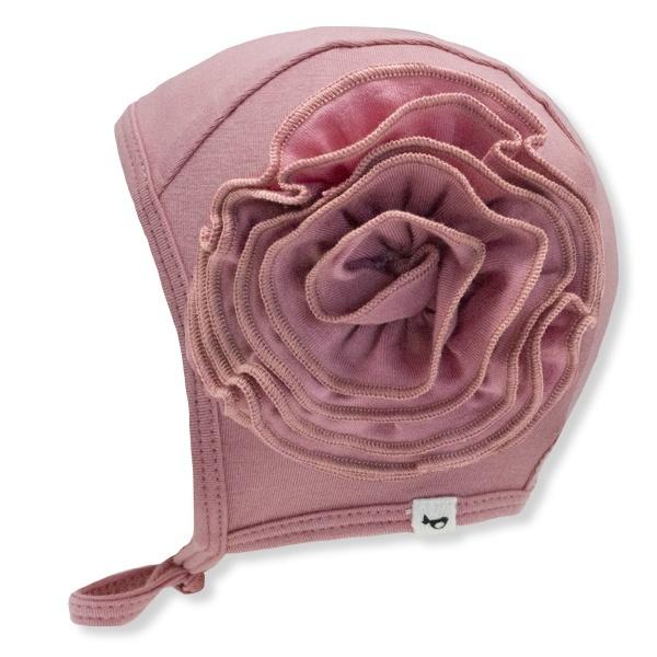 oh baby! Frill Flowers Pilot Cap Bamboo - Rose