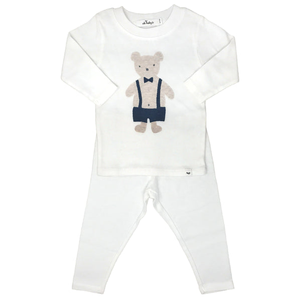 oh baby! Two Piece Set - Dapper Sand Teddy - Cream