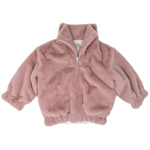 oh baby! Faux Fur Coat in Blush Pink - Adult