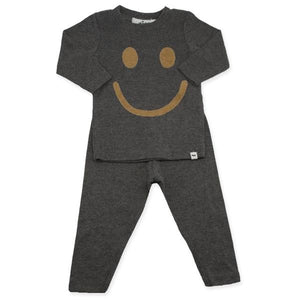 oh baby! Two Piece Set - Smiley Tan - Charcoal