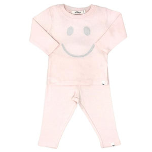 oh baby! Two Piece Set - Stardust Smiley Silver - Pale Pink