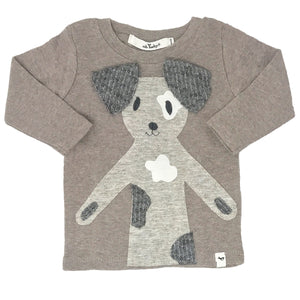 oh baby! Long Sleeve Top - Spot Dog - Mushroom