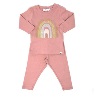 oh baby! Two Piece Set - Stardust Rainbow - Blush