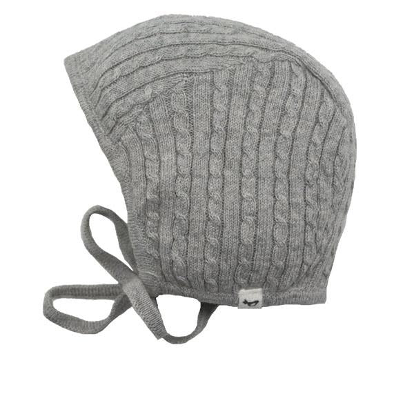 oh baby! Cable Knit Pilot Cap - Stormy Gray