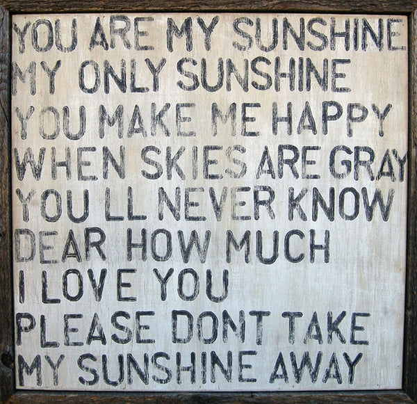 You Are My Sunshine Art Print Oh Baby