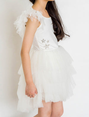 Luna Luna Swan Girls Dress - Snow