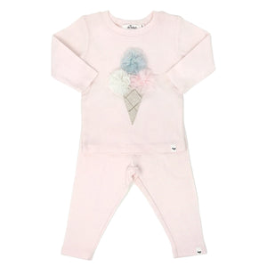 oh baby! Two Piece Set - Triple Scoop Ice Cream - Pale Pink