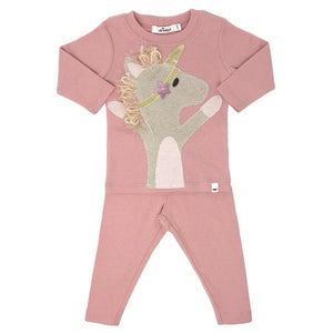 oh baby! Two Piece Set - Star Unicorn - Blush