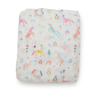 Loulou Lollipop - Fitted Crib Sheet Unicorn Dream - oh baby!
