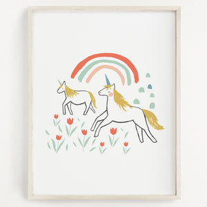 Clementine Kids Art Print - Unicorn Land - 11 x 14 - oh baby!