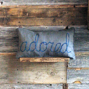 oh baby! Word Yarn Pillow with Welt - oh baby!