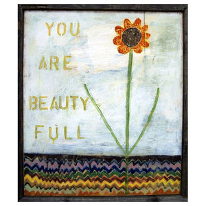 You Are Beauty Full Vintage Framed Art Print
