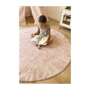 ABC Round Washable Rug -  Vintage Nude/Natural