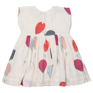Pink Chicken Adaline Dress - Multi Ballons - Back
