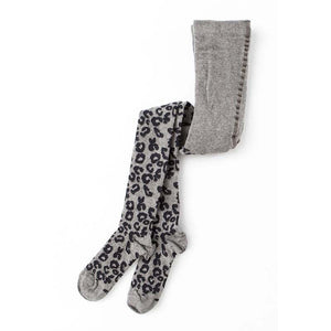 Tocoto Vintage Animal Print Baby Tights - Grey