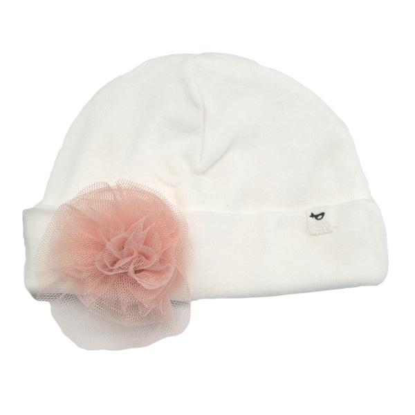 oh baby! Hat - Frill Flower Apricot - Cream