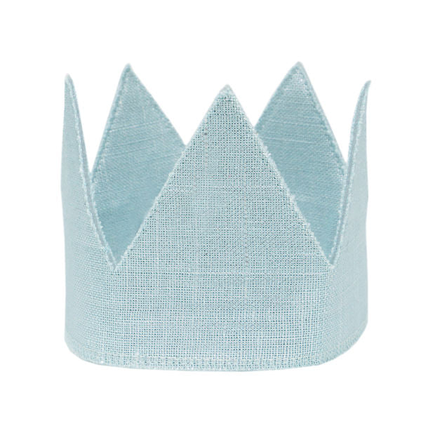 oh baby! Metallic Aqua Linen Crown - Infant