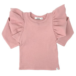 oh baby! Butterfly Sleeve Tee - Blush