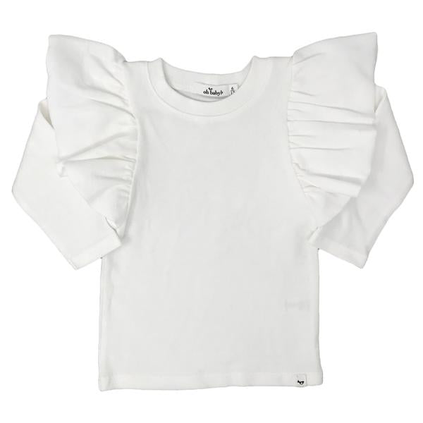 oh baby! Butterfly Sleeve Tee - Cream