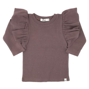oh baby! Butterfly Sleeve Tee - Lavender