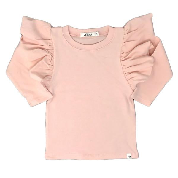 oh baby! Butterfly Sleeve Tee - Pale Pink