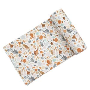 angel dear autumn owls swaddle blanket