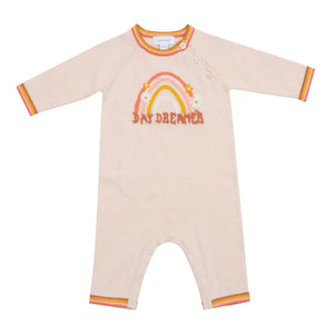 angel dear vintage knit coverall - rainbow