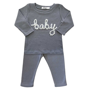 oh baby! Two Piece Set - Baby in Yarn - Asphalt - oh baby!