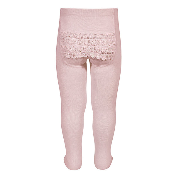 Condor Baby Lace Bottom Tights - Blush - oh baby!