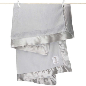 Little Giraffe Luxe Receiving Baby Blanket - Silver - oh baby!