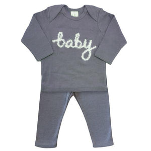 oh baby! Two Piece Set - Baby in Yarn - Asphalt