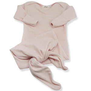 oh baby! Knotted Baby Rib Sac - Brushed Pale Pink