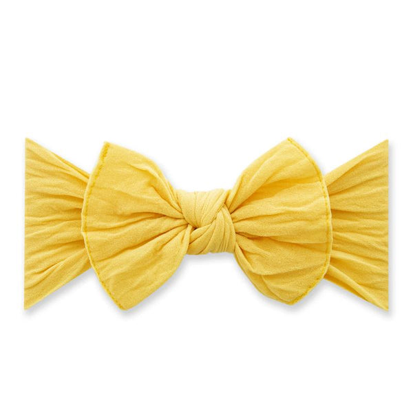 Knot Bow Headband - Canary Yellow