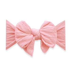 Dang Enormous Bow Headband - Seashell Dot