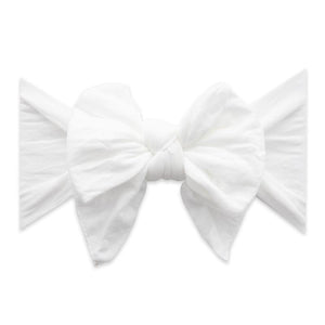Dang Enormous Bow Headband - White Dot