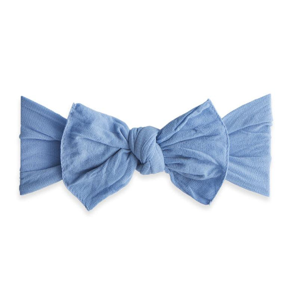 Knot Bow Headband - Denim