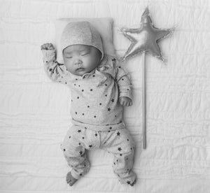 oh baby! Metallic Linen Star Wand - Snow