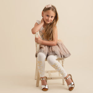 oh baby! Leggings - Ballerina Strap - Gold Foil - Cream