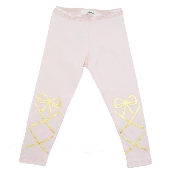 oh baby! Leggings - Ballerina Strap - Gold Foil - Pale Pink