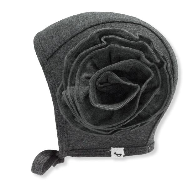 oh baby! Frill Flowers Pilot Cap Bamboo - Charcoal