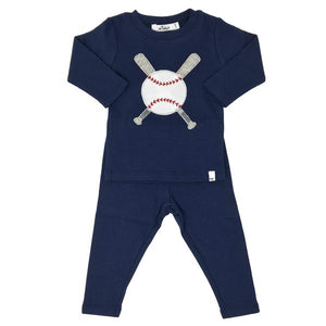 oh baby! Two Piece Set - Baseball - Navy