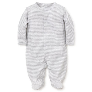 Essentials Stripe Footie - Grey - oh baby!